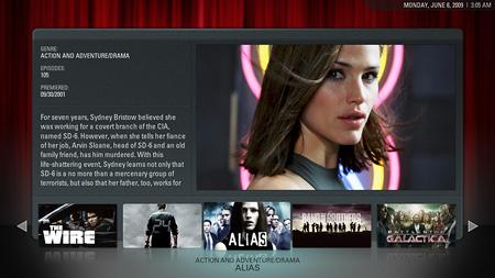 Captura de pantalla de XBMC