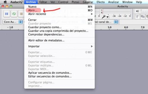 Cómo recortar canciones con Audacity en Mac OS X