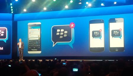 Un momento de la presentación de BBM para Android e iOS