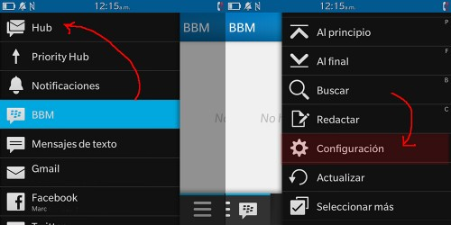 Cómo configurar BlackBerry Hub en BlackBerry 10