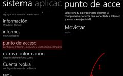 Configurar un punto de acceso APN con Windows Phone