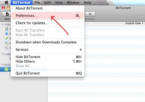 Manejar y Configurar BitTorrent para MAC OS X