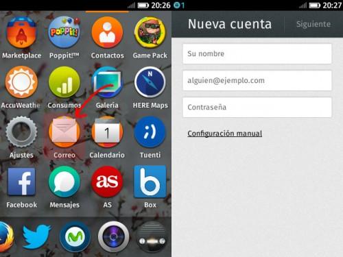 Configurar cuenta de email con FireFox OS