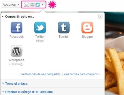 Flickr se socializa con Facebook y Twitter