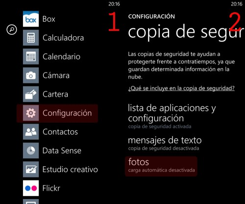 Cómo guardar fotos online con Windows Phone