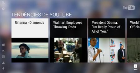 Esta puede ser la futura interfaz de YouTube, optimizada para entornos táctiles/gestuales