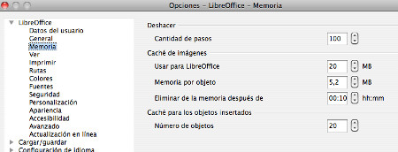 Optimizar la memoria RAM con LibreOffice