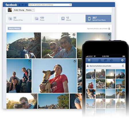 Facebook estrena sincronización de fotos con el móvil