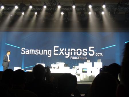Momento de la presentación de los procesadores Samsung Exynos 5 Octa en el CES de este año