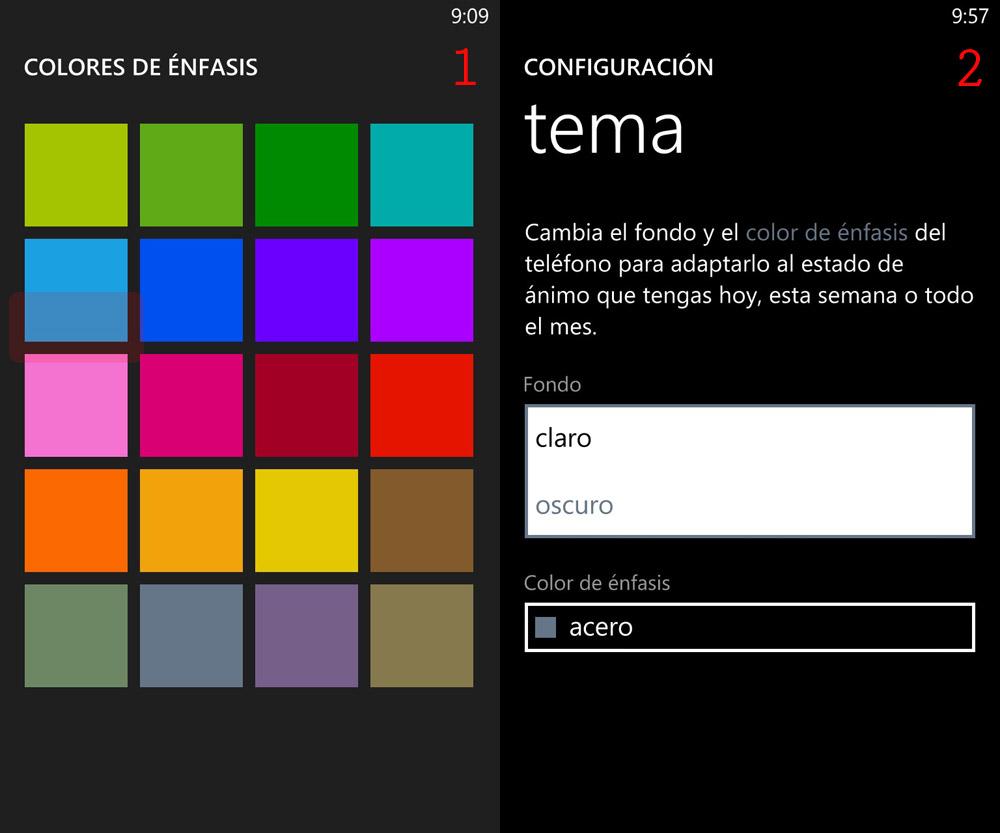 Cambiar el aspecto y notificaciones con Windows Phone » Definición
