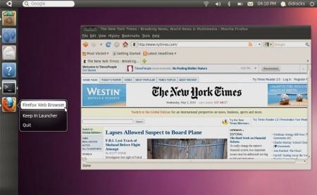 Ubuntu presentó Unity, un nuevo escritorio preparado para dispositivos táctiles